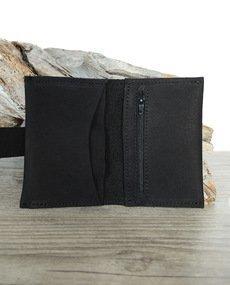 Porte-monnaie homme en cuir noir