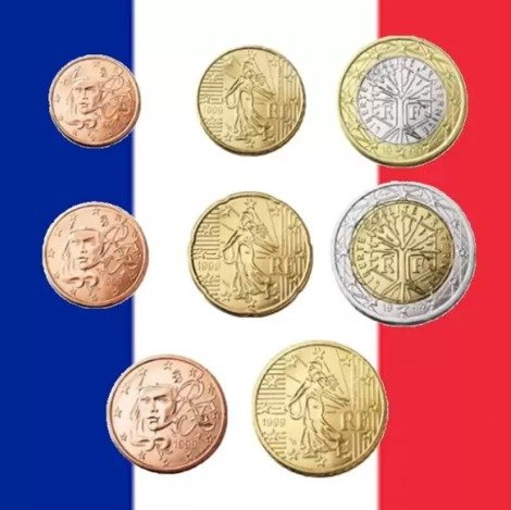 France euro coins minted
