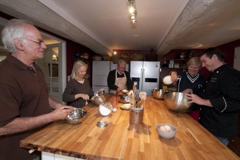 Cours de cuisine donné par un Chef