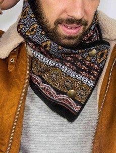 Cache-cou polaire motifs ethniques