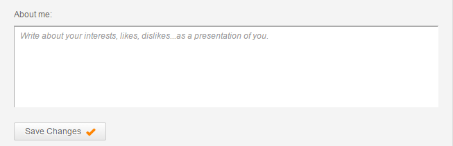 Social profile - About me